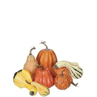 """Harvest Pumpkins - Set of 8 - 5.5""""l x 5.5""""w x 9.5""""h"""