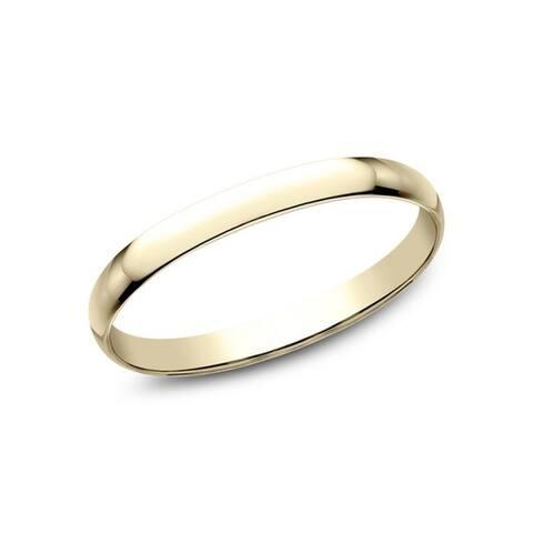 14K Yellow Gold 1.2mm Wedding Band