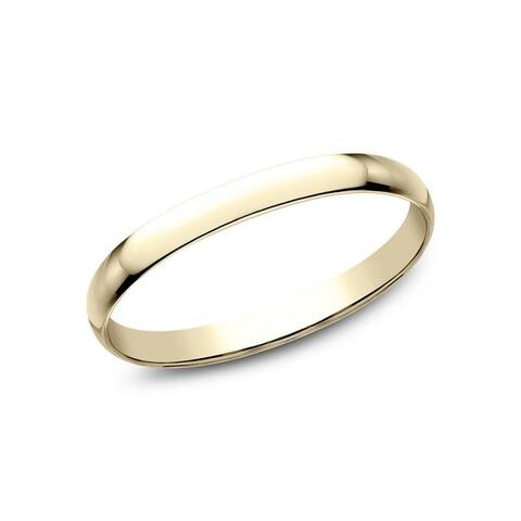 14K Yellow Gold 1.2mm Wedding Band