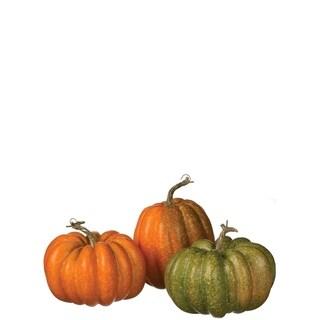 """Harvest Pumpkins - Set of 3 - 5.5""""l x 12""""w x 8""""h"""