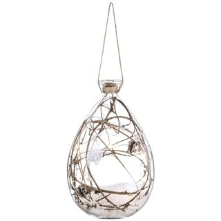 """Link to Lighted Twig in Glass with Ornament - 5""""l x 5""""w x 7.5""""h Similar Items in Christmas Decorations"""