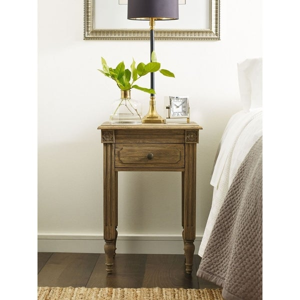Shop Finch Avignon End Table In Reclaimed Oak Free Shipping Today Unique Avignon Bedroom Furniture Decor