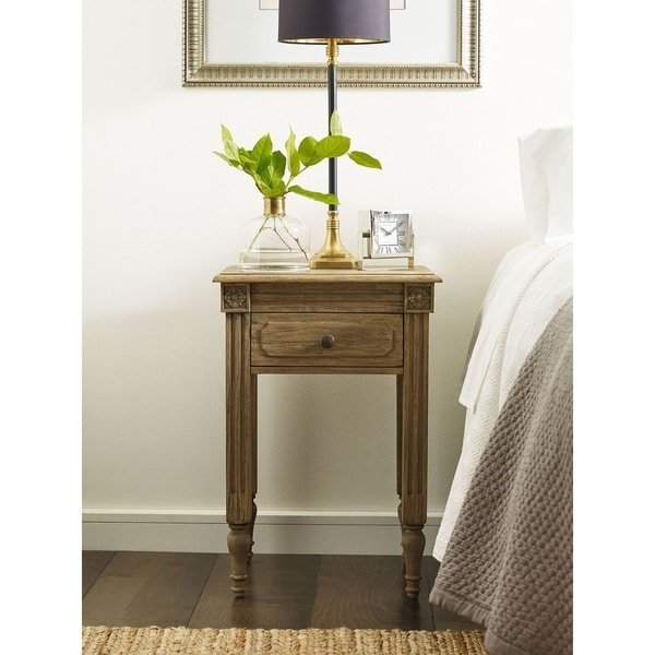 Finch Avignon End Table in Reclaimed Oak