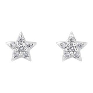 10kt White Gold 1/10ct. TDW Diamond Star Stud Earrings