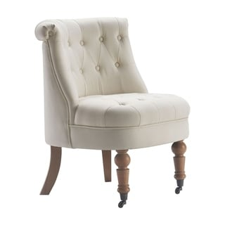 Shop Safavieh Carlin Mushroom Taupe Tufted Chair On Sale