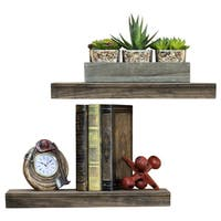 "Del Hutson Designs Ornate True Floating Shelves, 16"" Set of 2"