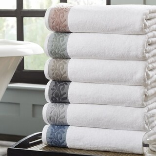 Amrapur Overseas 6-Piece Towel Set With Filigree Jacquard Border
