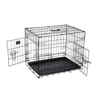 """Pet Trex 24"""" Folding Pet Crate, 2 Door Kennel, 24"""""""