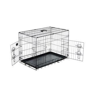 """Pet Trex 30"""" Folding Pet Crate, 2 Door Kennel, 30"""""""