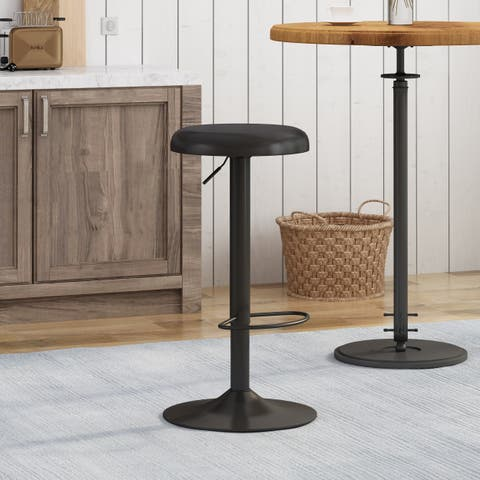 "Bordero Adjustable 24"" Seats Barstool By Christopher Knight Home"