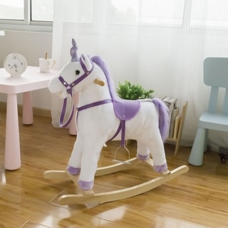 Link to Kinbor Kids Rocking Horse Stuffed Animal Rocker Plush Ride On Toy Children's Day Birthday Gift Similar Items in Bicycles, Ride-On Toys & Scooters