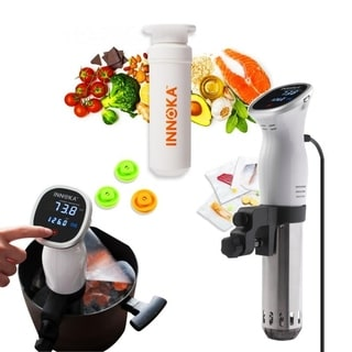 INNOKA 850W Stainless Steel Sous Vide Immersion Precision Cooker 850W with LED Touch Screen & 10-Piece Sous Vide Bag Kit