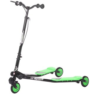 Merax Kids 3 Wheels Foldable Swing Dragon Tri Scooter Winged Push Motion