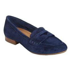Women's Aerosoles Map Out Penny Loafer Navy Suede