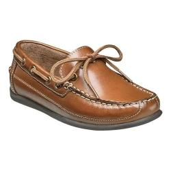 Boys' Florsheim Jasper Tie Boat Shoe Jr. Saddle Tan Smooth Leather