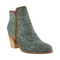 Women's L'Artiste by Spring Step Alivia Bootie Green Leather