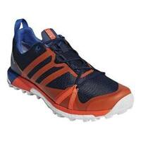 Men's adidas Terrex Agravic GORE-TEX Trail Running Shoe Collegiate Navy/Orange/Blue Beauty