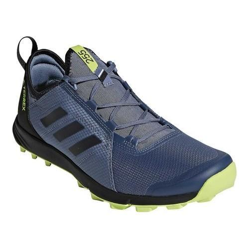 Shop Men s adidas Terrex Agravic Speed Trail Running Shoe Raw  Steel Black Solar Slime - Free Shipping Today - Overstock - 19738954 535d49c8a