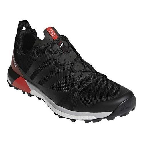 18d3fedeeb9 Shop Men s adidas Terrex Agravic Trail Running Shoe Black Carbon Hi-Res Red  - Free Shipping Today - Overstock - 19738957