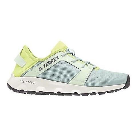 Women's adidas Terrex Climacool Voyager Sleek Water Shoe Ash Green/Aero Green/Semi Frozen Yellow
