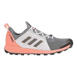Women's adidas Terrex Agravic Speed Trail Running Shoe Grey Three/Black/Chalk Coral