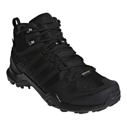 brand new 4d718 91b2a Shop Mens adidas Terrex Swift R2 Mid GORE-TEX Hiking Shoe BlackBlackBlack  - Free Shipping Today - Overstock - 19739012