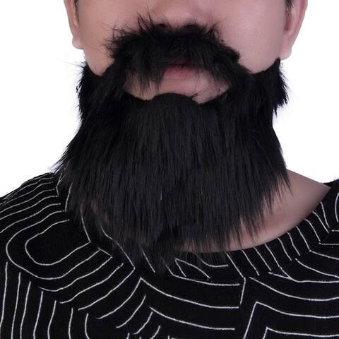 Halloween Mustache & Fake Beard Facial Hair Party Costume Dress Up