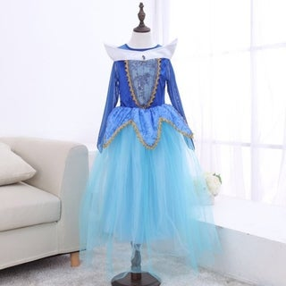 Children's Dance Sleeping Beauty Long Sleeve Gauze Dress Halloween