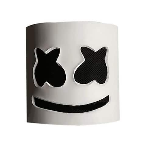 Halloween Party Night Club Latex White Mask Adult DJ Mask Helmet