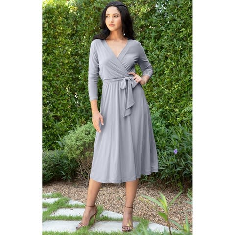 56db7acfaf8d3 Grey Dresses | Find Great Women's Clothing Deals Shopping at Overstock