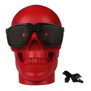 Mini Skull Head Shape Wireless Bass Phone Computer Speaker