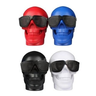 Mini Skull Head Shape Wireless Bass Phone Computer Speaker