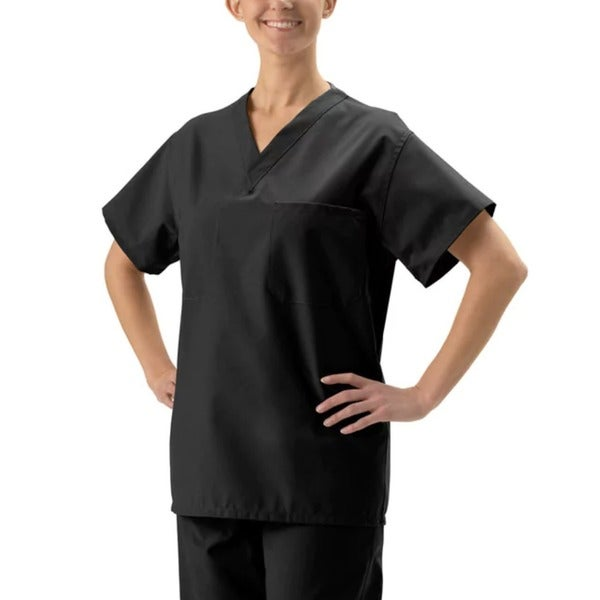 420a50ebafd Shop Medline Unisex Black Reversible Scrub Top - Ships To Canada ...