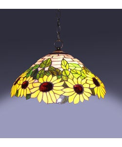 Tiffany-style Sunflower Hanging Lamp