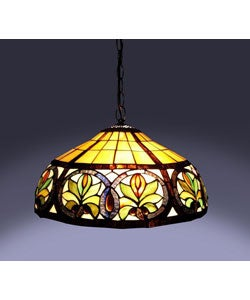 Tiffany-style Sunrise Hanging Lamp