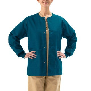 Medline Unisex Caribbean Blue Two-pocket Warm-up Jacket