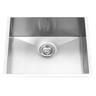 Vigo 23 Inch Undermount Stainless Steel 16 Gauge Single Bowl Kitchen Sink