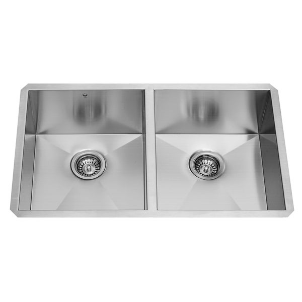 16 Gauge Undermount Kitchen Sink : ... 32-inch Stainless Steel 16-gauge Undermount Double Bowl Kitchen Sink