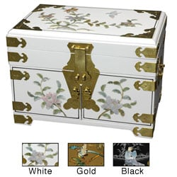 Handmade Daisy Mirrored Jewelry Box (China)