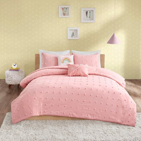 Urban Habitat Kids Ensley Cotton Jacquard Pom Pom Comforter Set
