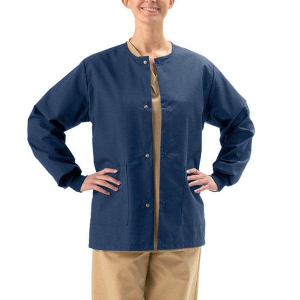 66816e8522b Shop Medline Unisex Navy 2-pocket Warm-up Jacket - Free Shipping On Orders  Over $45 - Overstock - 2327179