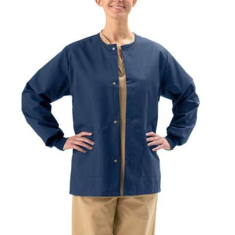 Medline Unisex Navy 2-pocket Warm-up Jacket