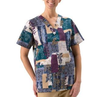 Women's 2-pocket V-neck Scrub Top