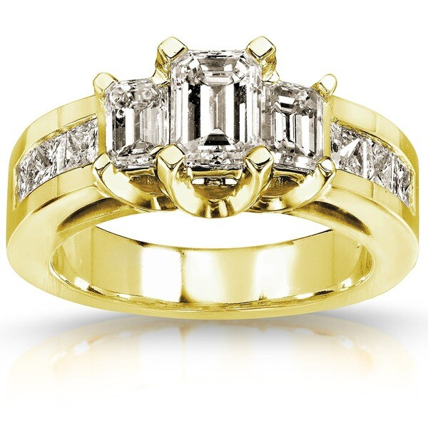 Annello by Kobelli 14k Gold 2ct TDW Certified Diamond Engagement Ring (H-I, SI1-SI2)