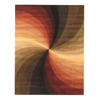 Hand-tufted Wool Contemporary Abstract Swirl Rug - 5' x 8'