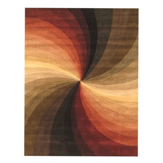 EORC Hand-tufted Wool Multi Swirl Rug (7'9 x 9'9)