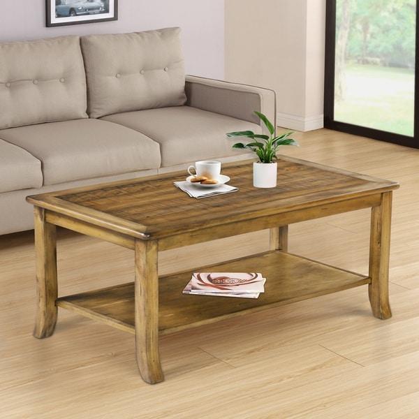 Sleeplanner Wood Top Coffee Table, Light brown 18TB12D