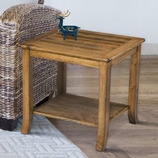Sleeplanner Wood Top Side Table, Light brown 22TB12D