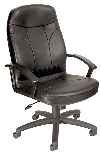 Shop Boss Bonded Leather Ergonomic Executive Office Chair