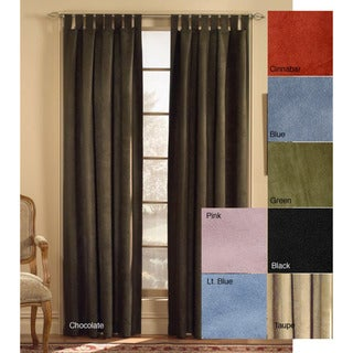 Microsuede Tab Top 63-inch  Curtain Panel